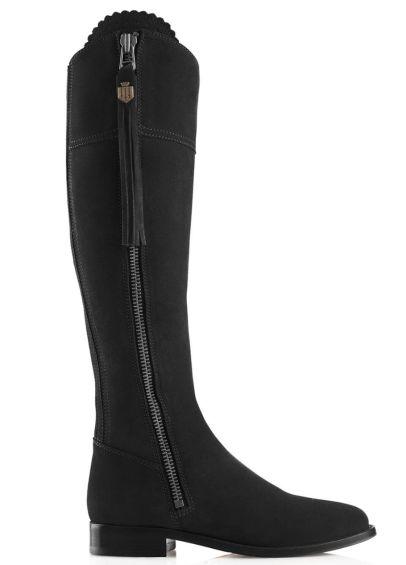 Fairfax & Favor Regina Flat Boot - Black