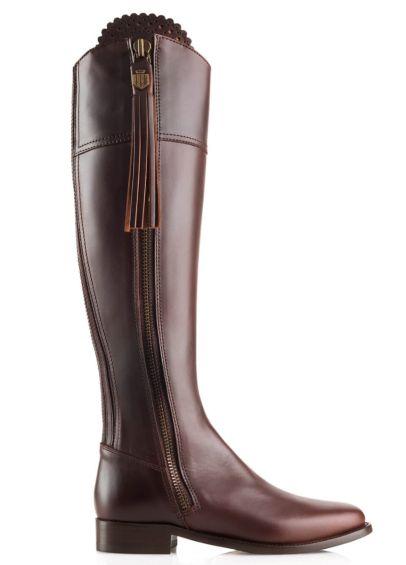 Fairfax & Favor Leather Regina Flat - Mahogany
