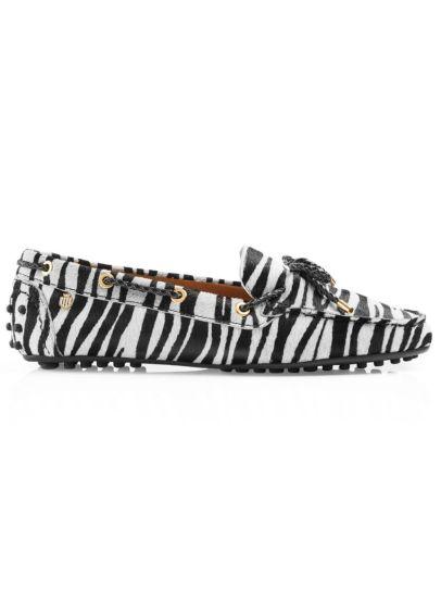 Fairfax & Favor Henley Driving Shoe - Zebra