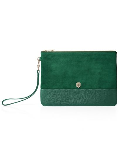 Fairfax & Favor Highbury Clutch Bag - Emerald