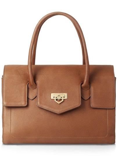 Fairfax & Favor Loxley Leather Shoulder Bag - Tan