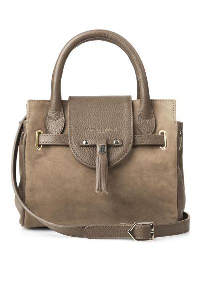 Fairfax & Favor Mini Windsor Suede Handbag - Taupe