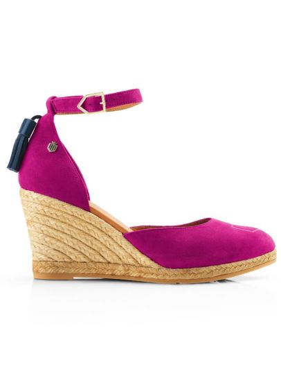Fairfax & Favor Monaco Wedge - Fuchsia