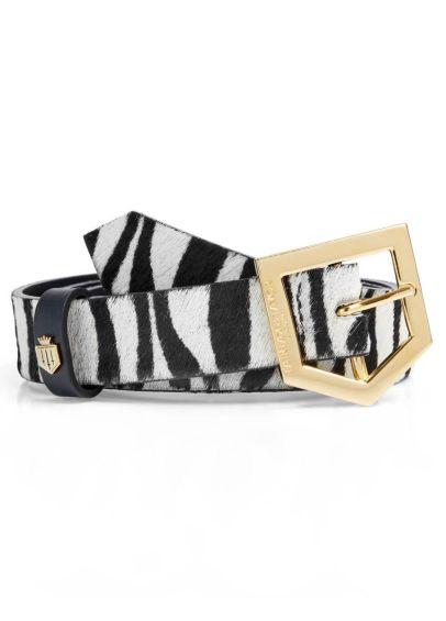 Fairfax & Favor Sennowe Belt - Zebra Haircalf
