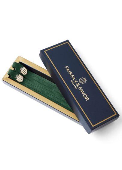 Fairfax & Favor Suede Boot Tassels - Emerald