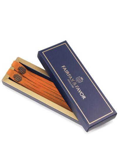 Fairfax & Favor Suede Boot Tassels - Tangerine