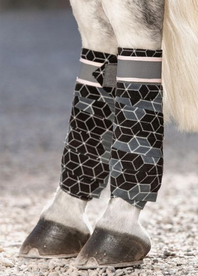 Horseware Fleece Bandages - Hexagon Print