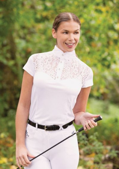 Equetech Womens Florence Competition Shirt - White