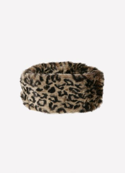 Dubarry Fur Headband - Leopard