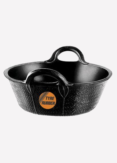Rubber Skip Bucket - Black