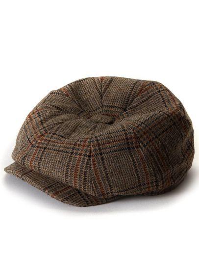 Holland Cooper Baker Boy Tweed Cap - Bourbon