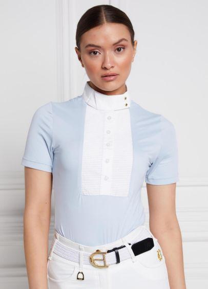 Holland Cooper Short Sleeve Show Shirt - Sky Blue