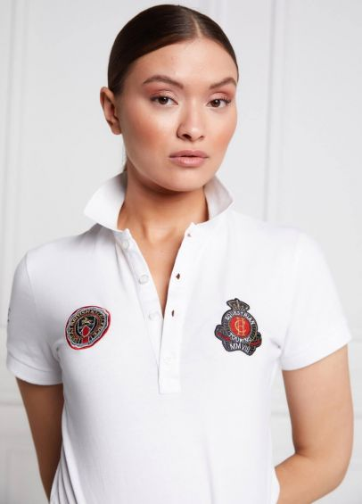 Holland Cooper Team Polo Shirt - White