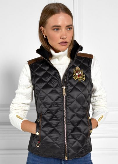 Holland Cooper Diamond Quilt Classic Gilet - Khaki