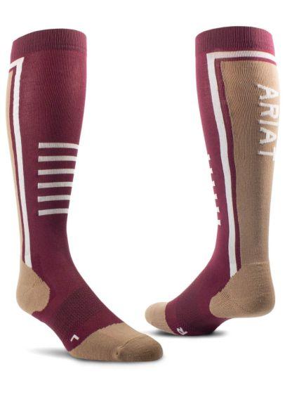 AriatTEK Slimline Performance Socks - Windsor Wine/Woodsmoke