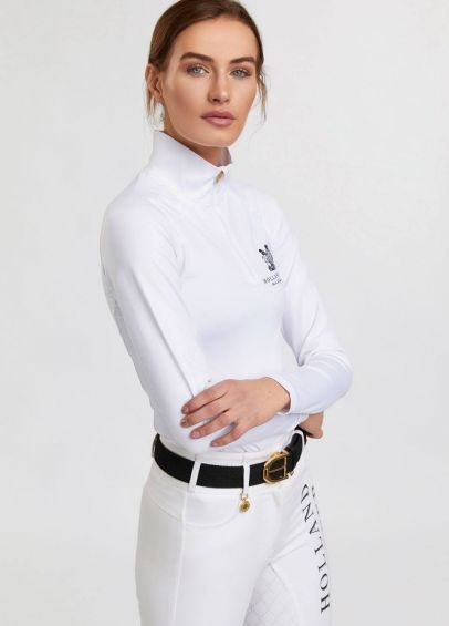Holland Cooper Equestrian Heritage Equi Comp Base Layer - Optic White
