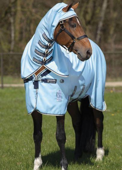 Horseware Rambo Hoody Vamoose Rug - Baby Blue