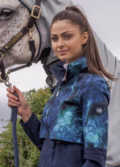 Horseware Carrie Riding Jacket - Green/Navy Tie Dye