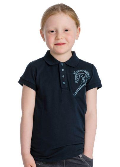 Horseware Flamboro Kids Polo Shirt - Navy
