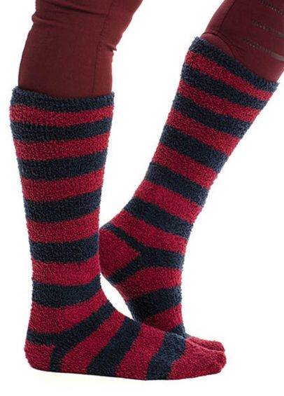 Horseware Softie Socks - Navy/Burgundy