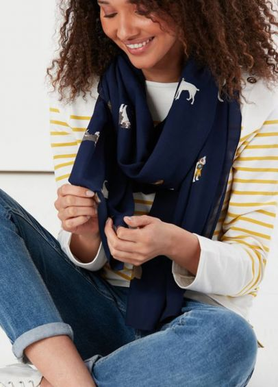Joules Conway Scarf - French Navy