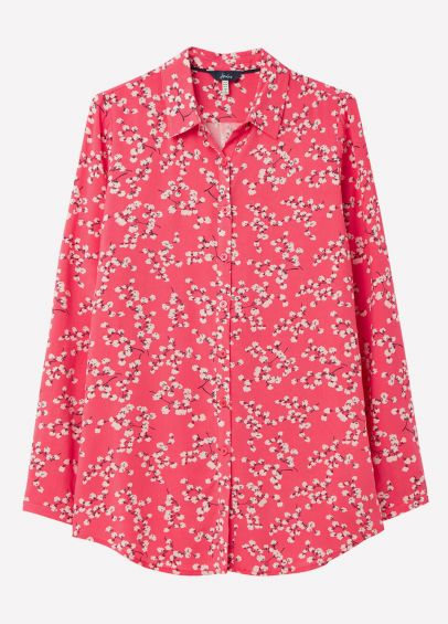 Joules Womens Elvina Shirt - Red Ditsy