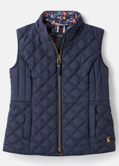Joules Junior Minx Quilted Gilet - French Navy