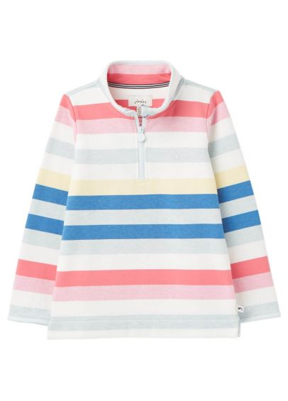 Joules Junior Fairdale Half Zip Sweatshirt - Multistripe