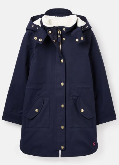Joules Loxley Cosy Waterproof Padded Raincoat - French Navy