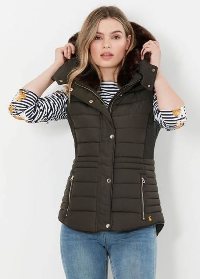 Joules Melford Padded Gilet - Heritage Green