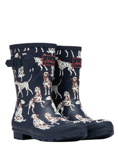 Joules Ladies Molly Wellingtons - Navy Dalmation