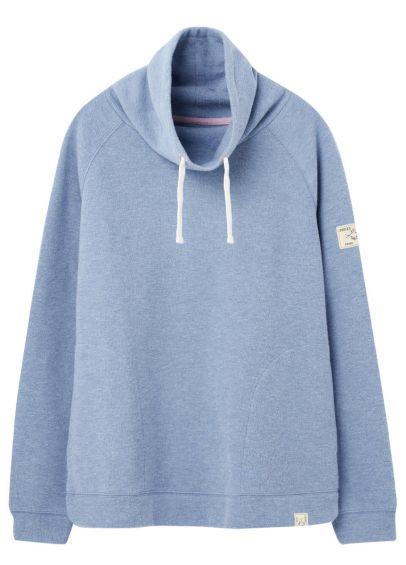 Joules Nadia Ribbed Sweatshirt - Blue Marl