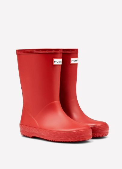 Hunter Kids First Classic Wellingtons - Military Red