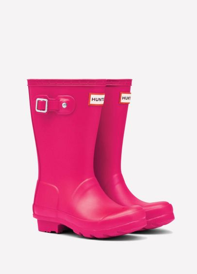 Childs Hunter Wellingtons - Bright Pink