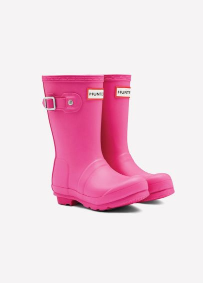 Childs Hunter Wellingtons - Fuchsia
