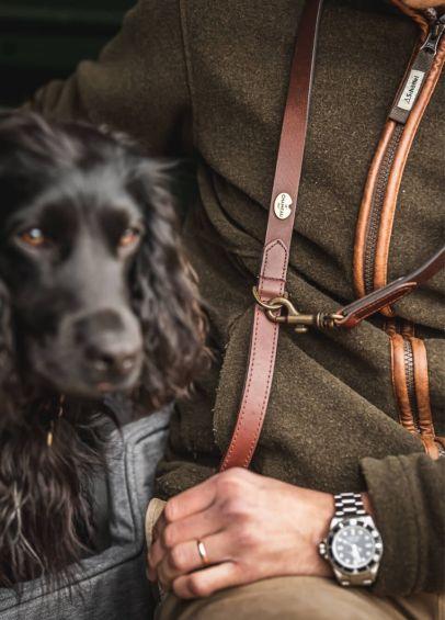 Le Chameau Dog Lead - Marron Fonce