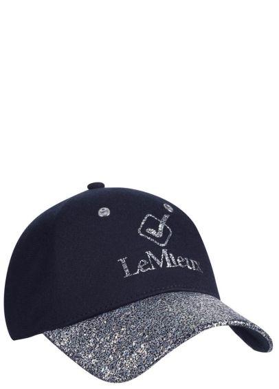 LeMieux Luxe Baseball Cap - Navy Fleck