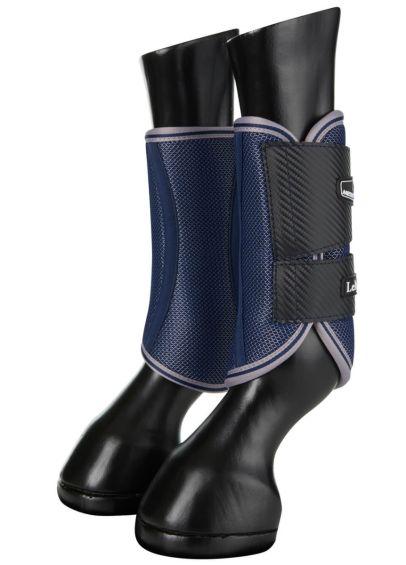 LeMieux Carbon Mesh Wrap Boots - Navy