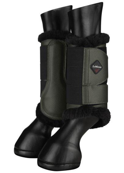 LeMieux Fleece Brushing Boots - Oak