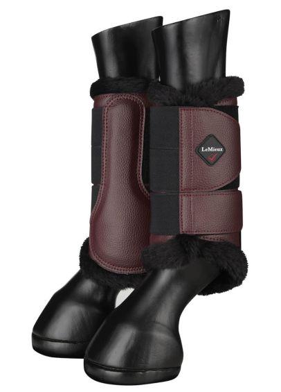 LeMieux Fleece Brushing Boots - Rioja