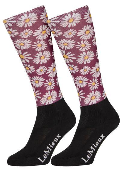 LeMieux Footsie Sock - Daisies