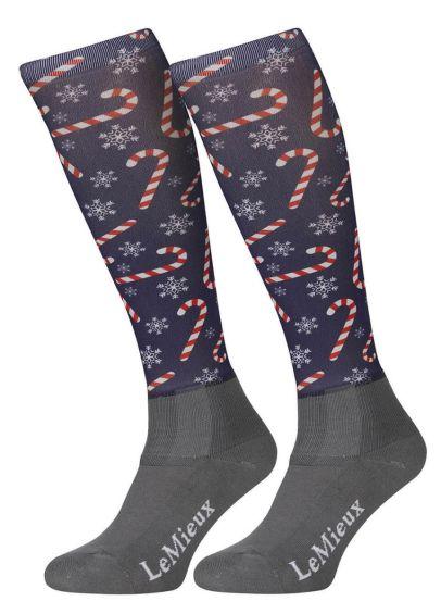 LeMieux Footsie Socks - Candy Cane - PRE ORDER