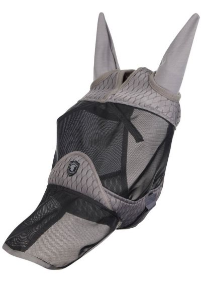 LeMieux Gladiator Full Fly Mask - Black/Grey