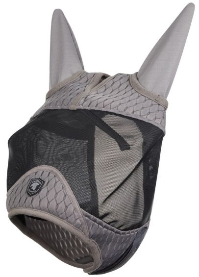 Gladiator Half Fly Mask - Black/Grey
