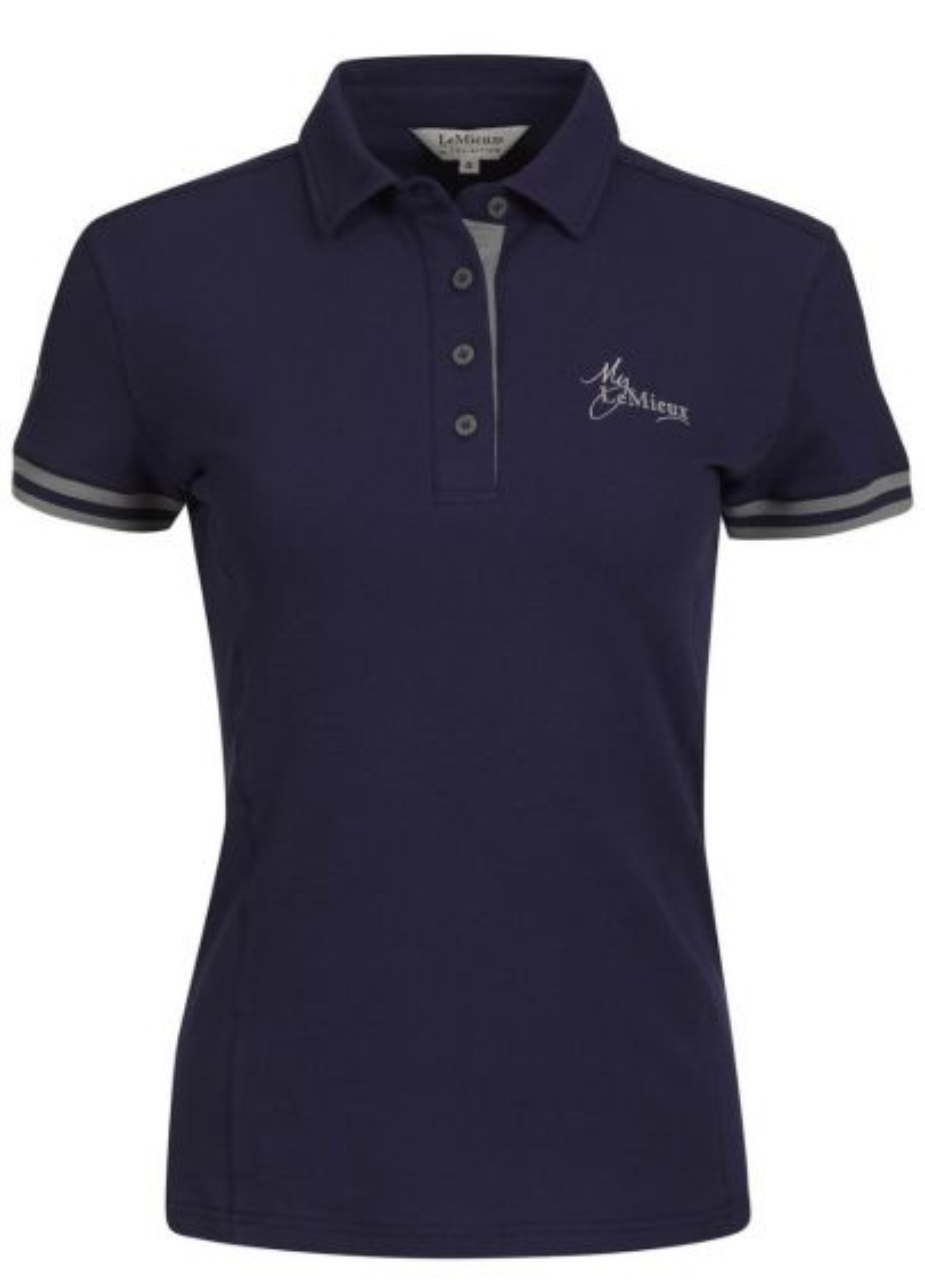 LeMieux Polo Shirt - Navy/Grey