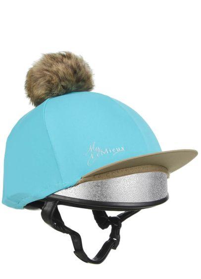 LeMieux Pom Pom Lycra Hat Silk - Azure
