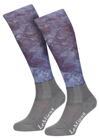LeMieux Glacé Socks - Navy