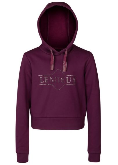 LeMieux Young Rider Cropped Hoodie - Grape