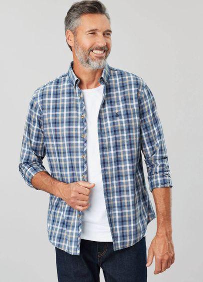 Joules Mens Lyndhurst Classic Fit Shirt - Navy Check