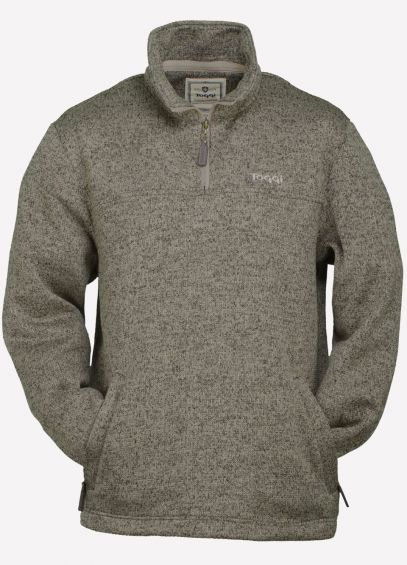 Toggi Marshall Mens Zip Neck Fleece - Putty